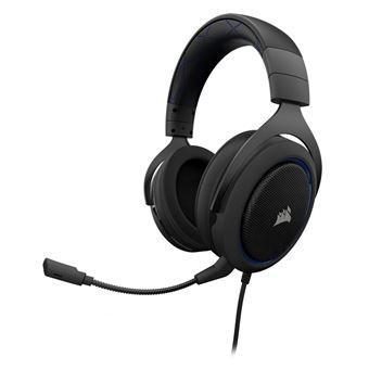 Micro-casque Gaming Stéréo Corsair HS50 Noir et Bleu
