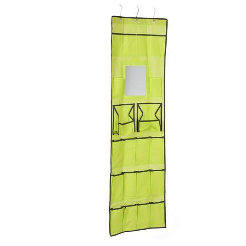 Rangement accessoires suspendu - Vert - Organisateur avec miroir ...