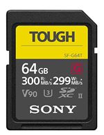 Carte mémoire Flash SDXC UHS-II Sony Tough SF-G64T V90 64 Go Classe 10
