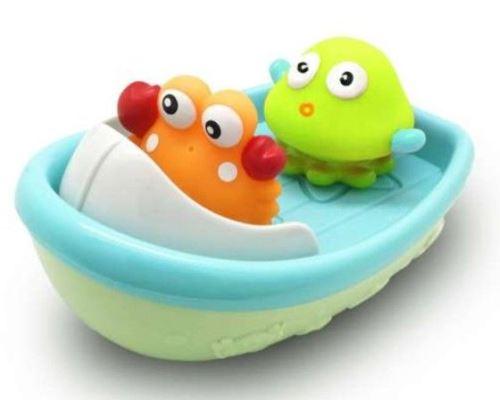Jeu de bain pour enfant Escabbo Bateau avec 2 aspergeurs