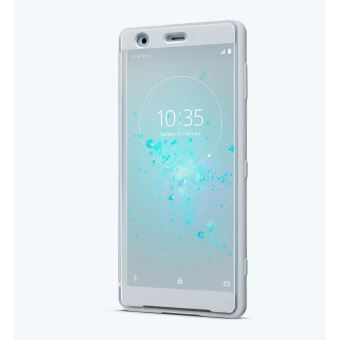 SONY XPERIA XZ2 STYLE COVER TOUCH TRANSPARENT FRONT GREY