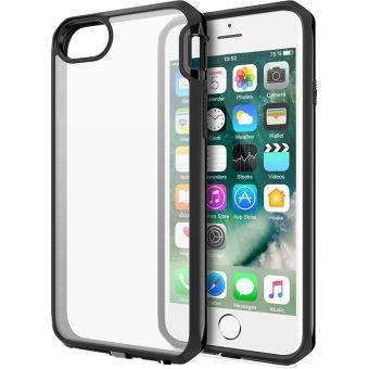 Coque rigide Itskins Venum Transparente avec contour noir pour iPhone 6, 6s, 7 et 8