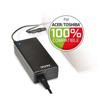 Chargeur Port Designs pour Ordinateur Acer et Toshiba 90 W