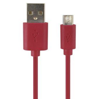 TEMIUM CABLE MICRO USB 2M RED