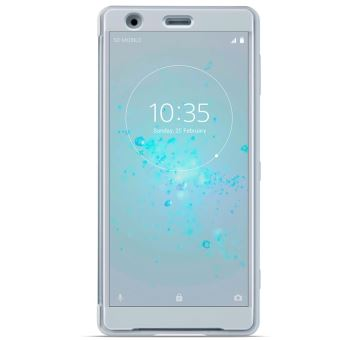SONY XPERIA XZ2 COMPACT STYLE COVER TOUCH TRANSP FRONT GREY
