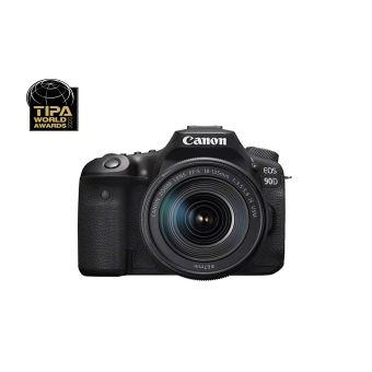 Appareil photo reflex Canon EOS 90D + objectif EF-S 18-135 mm f/3.5-5.6 IS USM