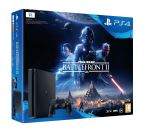 SNY Pack Sony Console PS4 Slim 1 To Noire + Star Wars Battlefr...