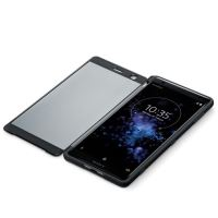 SONY XPERIA XZ2 STYLE COVER TOUCH TRANSPARENT FRONT BLACK
