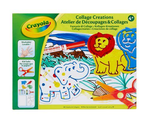 Kit créatif Crayola Atelier de découpages et collages
