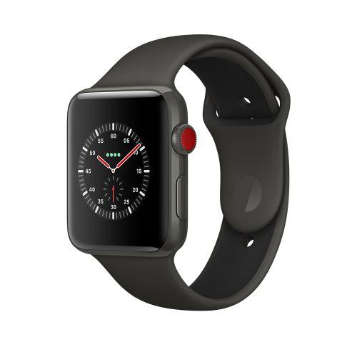 Fnac.com : Apple Watch Series 3 Cellular 42 mm Boîtier en céramique Gris avec Bracelet Sport Gris et noir - Montre connectée.