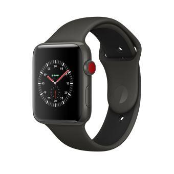 Apple Watch Series 3 42mm Behuizing Keramisch Grijs met Sport Armband Grijs en Zwart