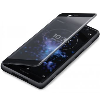 SONY XPERIA XZ2 COMPACT STYLE COVER TOUCH TRANSP FRONT BLACK