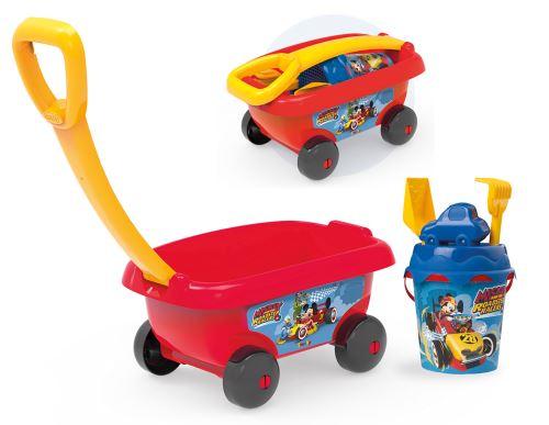 Chariot de plage garni Smoby Disney Mickey