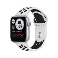 Apple Watch Nike Series 6 GPS, 40mm boitier Aluminium argent avec Bracelet Sport Noir
