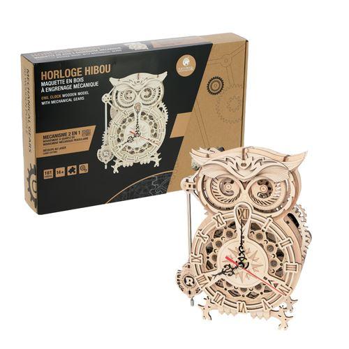 Maquette Horloge 2 en 1 hibou