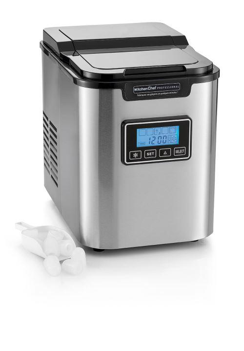 Machine à glaçons Kitchen Chef Professional YT-E-005CSS 140 W Gris