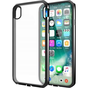 Itskins Venum transparant en zwart hard shell hoesje voor iPhone X