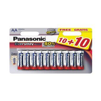 PANASONIC LR06 AA POWER 10+10