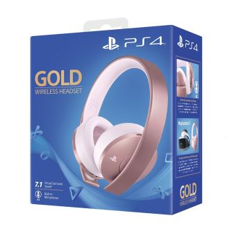 casque ps4 bluetooth gold