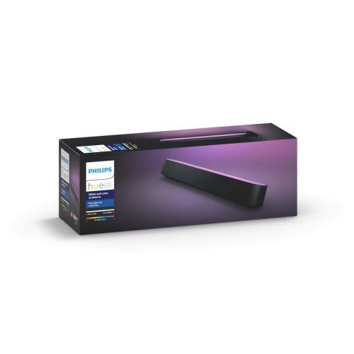 Philips Hue White and Color Ambiance Play Lightbar, dimmbar, bis zu 16 Millionen Farben, steuerbar via App, kompatibel mit Amazon Alexa, weiß/schwarz