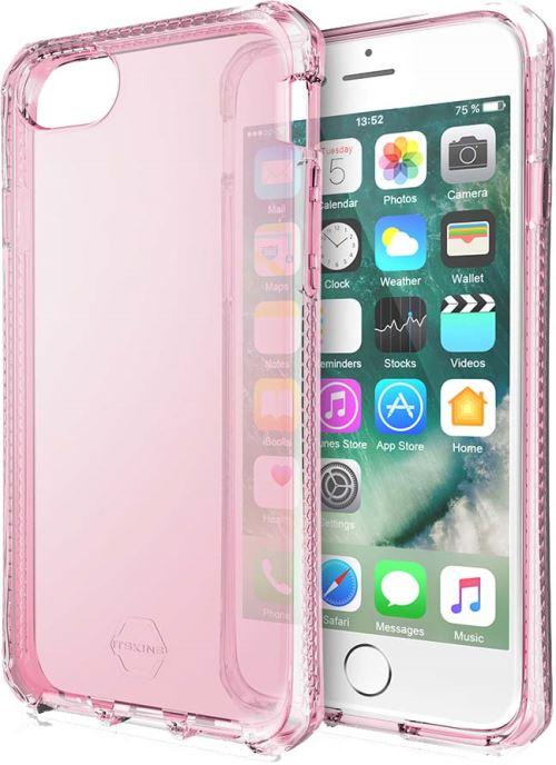 Coque semi rigide Translucide Rose Itskins Spectrum pour iPhone 6 6s 7 8 SE 2020
