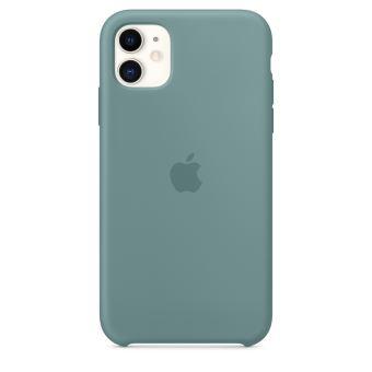 Coque en silicone Vert cactus Apple pour iPhone 11