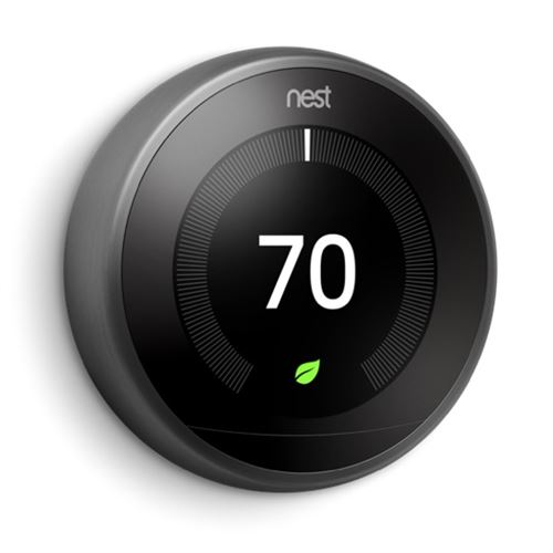 Thermostat pour chauffage central Nest Learning Noir