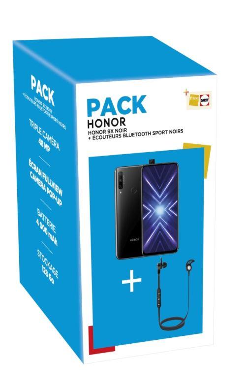 Pack Honor 9X 128 Go et écouteurs sport