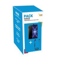 Pack Smartphone Honor 9X Double SIM 128 Go Noir + Ecouteurs intra-auriculaire sans fil Sport V985