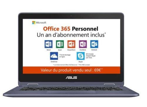 PC Hybride Asus TP202NA EH008TS 11.6 Tactile 64 Go eMMC 4 Go RAM Intel Dual-Core Celeron