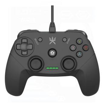 Manette filaire Alpha Omega Players Noir pour PC et PS3