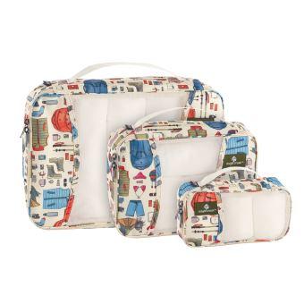 Lot de 3 sacs de compression Eagle Creek Pack-It Original™ Cubes Holiday Cube Taille XS Cube Taille S et Cube Taille M