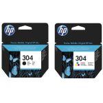 HEWLETT-PACKARD Pack de 2 Cartouches d´encre HP 304 Noir et T...