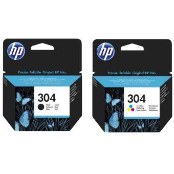 Pack de 2 Cartouches d'encre HP 304 Noir et Tri-couleur