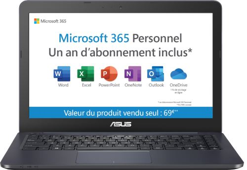 PC Ultra-Portable Asus E402YA-FA031TS 14 64 Go eMMC 4 Go RAM AMD E2