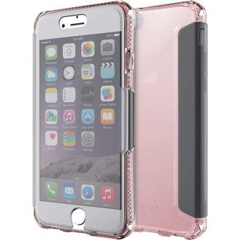 Roze en transparante Itskins Spectra folio tas voor iPhone 6, 6s, 7 en 8