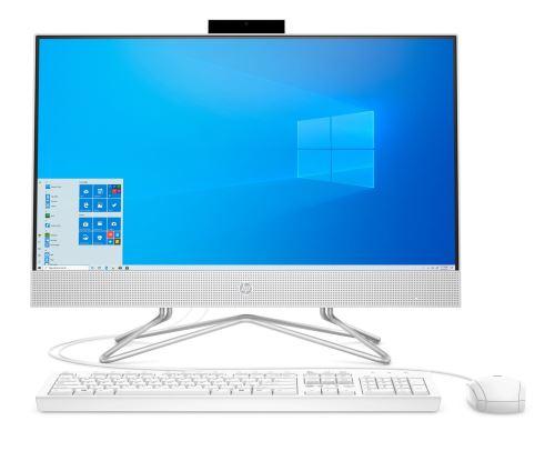 PC Tout en un HP 24-df0042nf 23,8 Intel Pentium 4 Go RAM 128 Go SSD + 1 To SATA Blanc neige