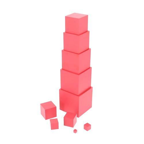 Jouet à manipuler La Tour Rose Montessori
