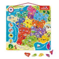 Puzzle France magnétique Janod 93 pièces