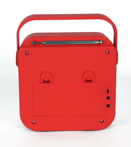 Radio réveil portable Cgv DR15+ FMDAB+ Rouge