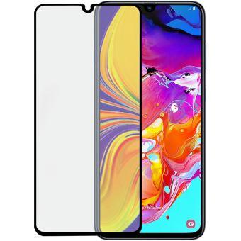 Protection d'écran en verre trempé 2.5D BigBen Connected Transparent avec Contour noir pour Samsung Galaxy A70