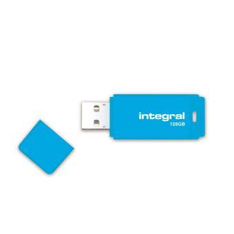 Clé USB 2.0 Integral Neon 128 Go Bleue