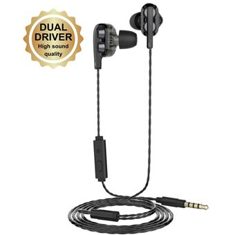 Ecouteurs intra-auriculaires Muvit M1I+ Noir