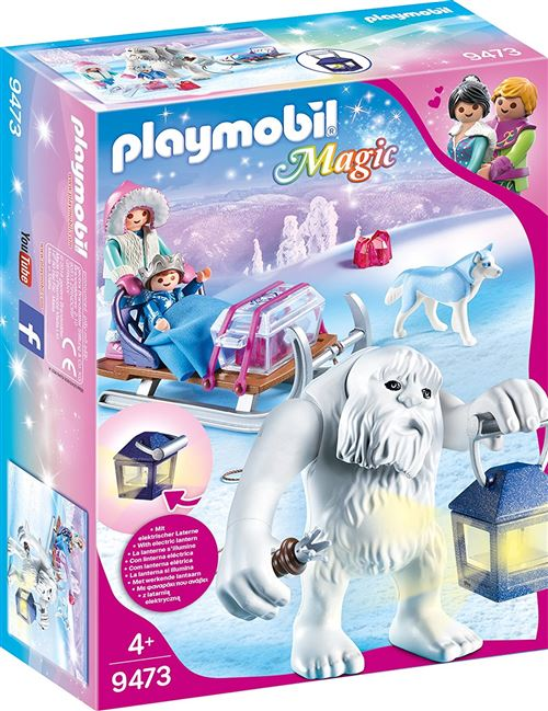 Playmobil Magic Le palais de Cristal 9473 Yéti avec traineau