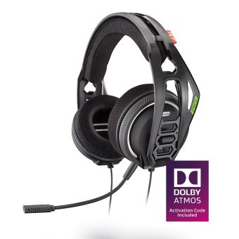 Casque Gaming filaire Plantronics RIG 400HX Noir pour Xbox One + Code d'activation Dolby Atmos