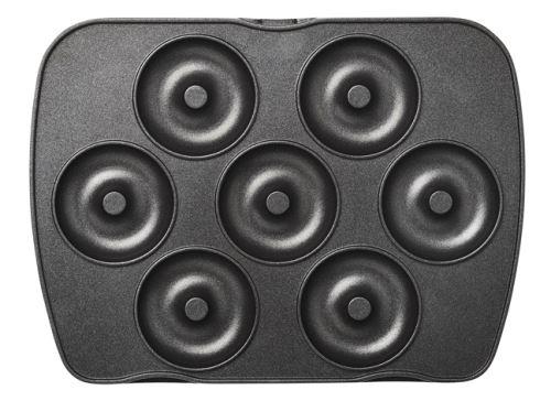 Jeu de plaques Premium Gaufres Lagrange pour 7 mini-donuts 010822 Noir