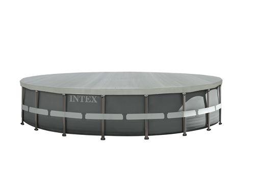 Bâche hiver pour piscine tubulaire ronde Intex Ø5,49 m Gris