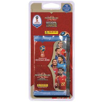 Pack de 4 pochettes de 5 stickers foot coupe du monde 2018 - Jeu de foot coupe du monde ...
