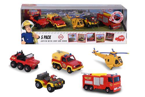 Coffret de 5 véhicules Majorette Sam le Pompier