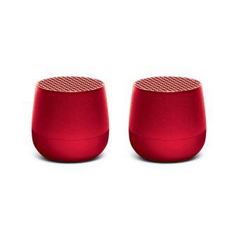 Set Mini-enceintes Bluetooth Lexon Twin Mino Rouge